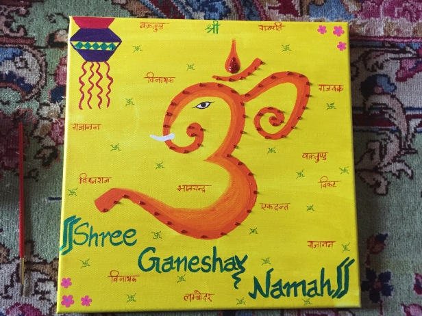 Shree Ganshay Namah Canvas