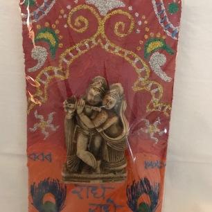 Radha Krishna wooden wall hanging