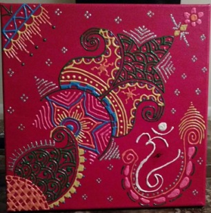 The Colorful Henna on Canvas (2)