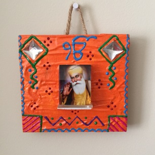 Waheguru wooden wall hanging (2)