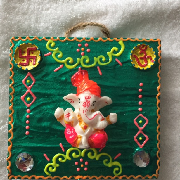 Ganesha wooden wall hanging IV