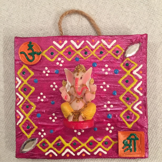 Ganesha wooden wall hanging V