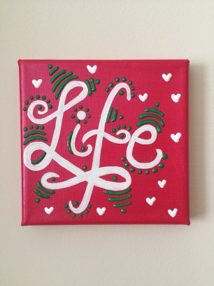 Life mini canvas