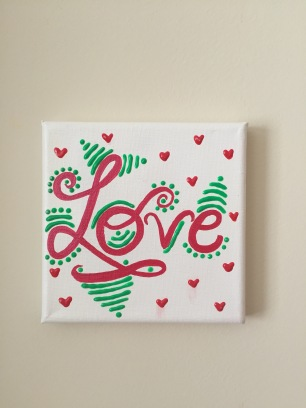 Love mini canvas
