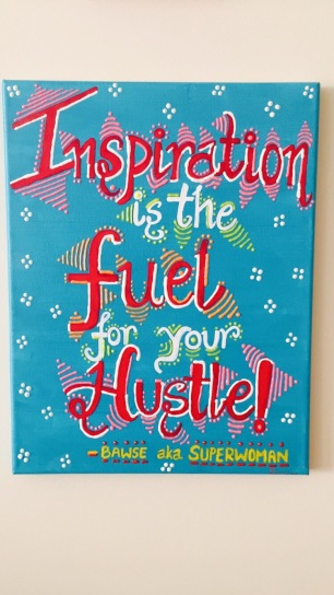 Inspiration is the fuel for your hustle canvas
