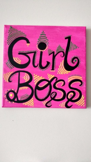 Girl Boss canvas